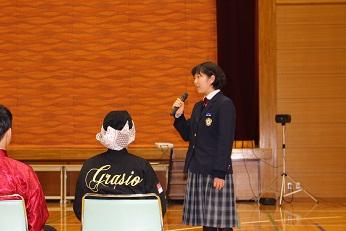 生徒会によるインタビュー