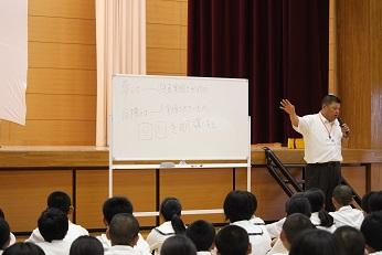 全校集会で校長講話