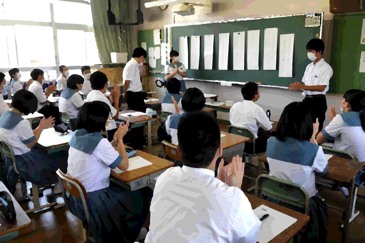 各学級で、宣言文について話し合いました。