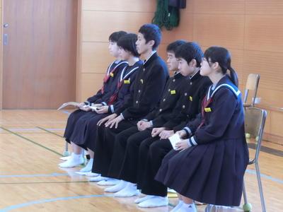 司会進行の生徒会のメンバー