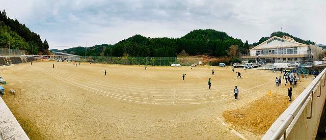 中学部 合同体育 ソフトボール
