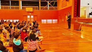全校集会と小中学部集会